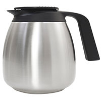 Curtis CLXP6401S100 1.9 Liter Stainless Steel Seamless Coffee Server with Brew Thru Lid - 6/Case