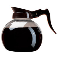 Curtis 70280100203 Glass Coffee Decanter with Brown Handle and Printed Instructions