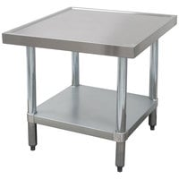 Advance Tabco MT-GL-303 30 inch x 36 inch Stainless Steel Mixer Table with Galvanized Undershelf