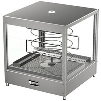 Doyon DRPR3 20 1/8 inch Countertop Pizza Merchandiser / Warmer with Three Tiered 18 inch Rotating Circle Rack - 120V
