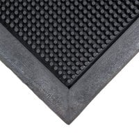 Cactus Mat 35-3239 Finger Top 32 inch x 39 inch Black Anti-Fatigue Rubber Entrance Mat - 5/8 inch Thick