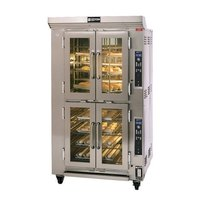 Doyon CAOP6G Natural Gas Double Deck Circle Air Oven Proofer Combo with Rotating Racks - 240V, 78,500 BTU