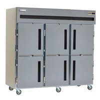Delfield SMF3-SH 79 Cu. Ft. Three Section Solid Half Door Reach In Freezer - Specification Line