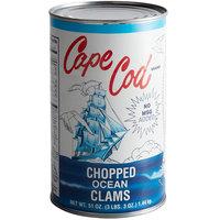 Chincoteague 51 oz. Chopped Ocean Clams - 12/Case