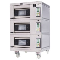 Doyon 1T3 Artisan 3 Stone 18 1/2 inch Deck Oven - 3 Pan Capacity, 208V, 3 Phase