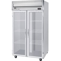 Beverage-Air HFS2-1G-LED Horizon Series 52 inch Glass Door Reach-In Freezer with Stainless Steel Interior and LED Lighting