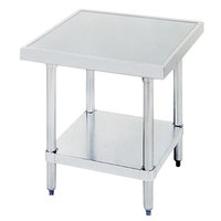 Advance Tabco MT-GL-242 24 inch x 24 inch Stainless Steel Mixer Table with Galvanized Undershelf