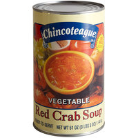 Chincoteague 51 oz. Ready-to-Serve Vegetable Red Crab Soup - 6/Case