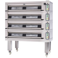 Doyon 3T4 Artisan 4 Stone 56 inch Deck Oven - 12 Pan Capacity, 208V, 3 Phase