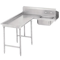 Advance Tabco DTS-G30-48 4' Spec Line Stainless Steel Soil L-Shape Dishtable