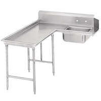 Advance Tabco DTS-G70-60 5' Standard Stainless Steel Soil L-Shape Dishtable