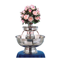 Apex 4004-GT Princess 7 Gallon SS Beverage Fountain with Gold Bow Tie Trim & Floral Cup