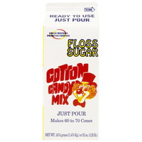 Great Western Orange Cotton Candy Floss Sugar 1/2 Gallon Cartons 6 / Case