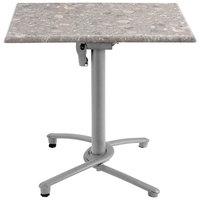 Grosfillex US809009 Silver Gray Aluminum Tilt Top Outdoor Table Base