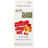 Great Western 1/2 Gallon Carton Green Lime Cotton Candy Floss Sugar - 6/Case