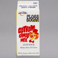 Great Western 1/2 Gallon Carton Red Cherry Cotton Candy Floss Sugar