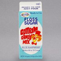 Great Western 1/2 Gallon Carton Blue Raspberry Cotton Candy Floss Sugar
