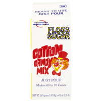 Great Western Pink Bubble Gum Cotton Candy Floss Sugar 1/2 Gallon Cartons 6 / Case
