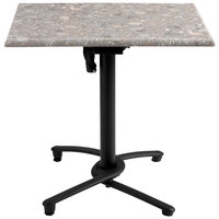 Grosfillex US809117 Black Aluminum Tilt Top Outdoor Table Base