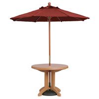Grosfillex 98948231 7' Terra Cotta Market Umbrella with 1 1/2 inch Wooden Pole