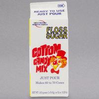 Great Western 1/2 Gallon Carton Apple Cotton Candy Floss Sugar - 6/Case
