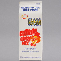 Great Western 1/2 Gallon Carton Watermelon Cotton Candy Floss Sugar - 6/Case