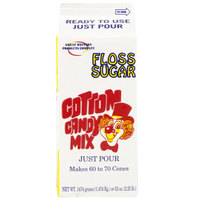 Great Western 1/2 Gallon Carton Red Cherry Cotton Candy Floss Sugar   - 6/Case