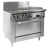 Garland G36-4G12C Liquid Propane 4 Burner 36 inch Range with 12 inch Griddle and Convection Oven - 188,000 BTU
