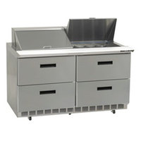 Delfield UCD4460N-24M 60 inch 4 Drawer Mega Top Reduced Height Refrigerated Sandwich Prep Table