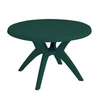 Grosfillex US526778 Ibiza 46 inch Amazon Green Round Resin Pedestal Table with Umbrella Hole