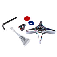 T&S 002521-45K-VR Vandal Resistant 4 Arm Faucet Handle Kit with Handle, Indexes, and Screws