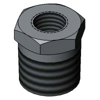 T&S 001714-40 Chrome Plated Hex Bushing with 3/8 inch NPT Male and 1/8 inch NPT Female Connections