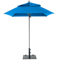 Grosfillex 98829731 Windmaster 9' Pacific Blue Fiberglass Umbrella with 1 1/2 inch Aluminum Pole
