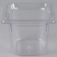 "Vollrath 8066410 Super Pan&#174&#x3b; 1/6 Size Clear Polycarbonate Food Pan - 6"" Deep"