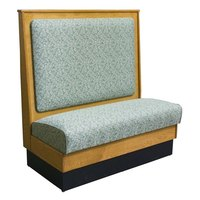 American Tables & Seating AS48-W-SS Plain Back Standard Seat Single Wood Booth - 48 inch High