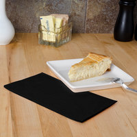Hoffmaster 180513 Black 15 inch x 17 inch 2-Ply Paper Dinner Napkin - 125/Pack