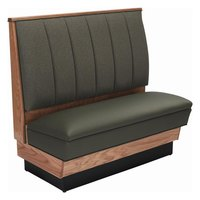 American Tables & Seating AS42-66W-D Single Deuce Alex Style Wood Booth - 42 inch High