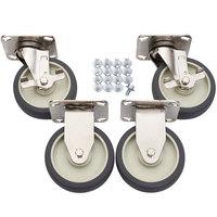 Alto-Shaam 4007 5 inch Rigid and Swivel Casters - 4/Set