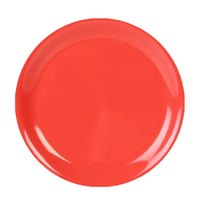 Thunder Group CR109RD 9 inch Orange Narrow Rim Melamine Plate - 12/Pack