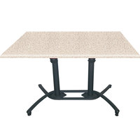 Grosfillex US819117 Aluminum Tilt Top Lateral Outdoor Table Base 100 - Black