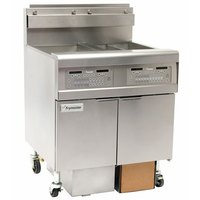 Frymaster FPGL230-4CA Natural Gas Floor Fryer with Two Split Frypots and Automatic Top Off - 150,000 BTU