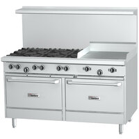 Garland G60-6G24CS 6 Burner 60 inch Gas Range with 24 inch Griddle, Convection Oven, and Storage Base - 272,000 BTU