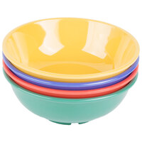 GET B-24-MIX Diamond Mardi Gras 24 oz. Melamine Bowl, Assorted Colors - 12/Case