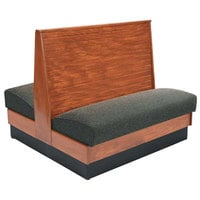 American Tables & Seating AD42-WBB-SSD Bead Board Back Standard Seat Double Deuce Wood Booth - 42 inch High