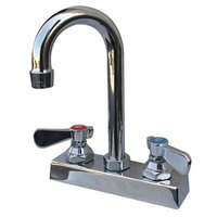 Advance Tabco K-62 Extra Heavy Duty Deck Mount 10 11/16 inch High Gooseneck Faucet with 4 inch Centers
