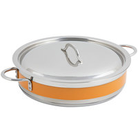 Bon Chef 60030CLD Cucina 6 Qt. Orange Brazier Pot with Cover