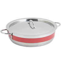 Bon Chef 60030CLD Cucina 6 Qt. Red Brazier Pot with Cover