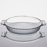 Anchor Hocking 81214L11 9 1/2 inch x 1 3/4 inch Deep Dish Glass Pie Plate