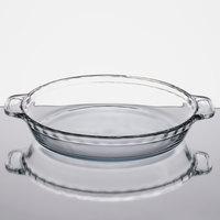 Anchor Hocking 81214AHG17 9 1/2 inch x 1 3/4 inch Deep Dish Glass Pie Plate