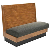 American Tables & Seating AS48-WBB-SS Bead Board Back Standard Seat Single Wood Booth - 48 inch High